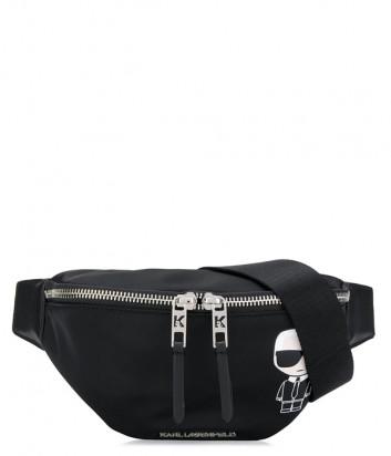 Поясная сумка-бананка KARL LAGERFELD Ikonik 201W3001 черная