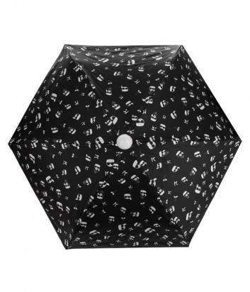 Механический зонтик KARL LAGERFELD Ikonik 205W3906 в три сложения черный
