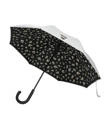 Зонт-трость KARL LAGERFELD Ikonik 205W3904 белый с принтом