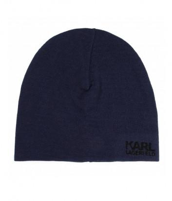 Шапка KARL LAGERFELD 805601 592324 синяя