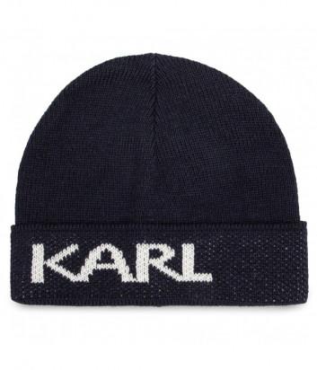 Шапка KARL LAGERFELD 805601 502322 синяя