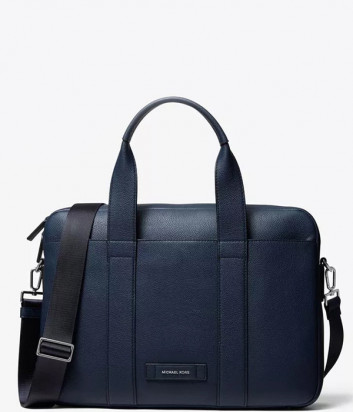 Мужская сумка для ноутбука MICHAEL KORS Briefcase Cooper Pebbled Leather темно-синяя