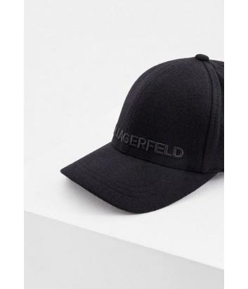 Бейсболка KARL LAGERFELD 805610 502120 из шерсти черная