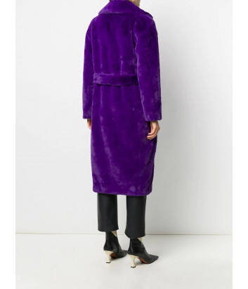 Пальто P.A.R.O.S.H. PHOTO D430847 из искусственного меха фиолетовое