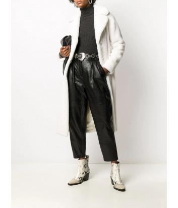 Пальто P.A.R.O.S.H. PHOTO D430847 из искусственного меха белое