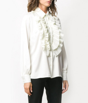 Блуза P.A.R.O.S.H. PALACE D380482 с оборками белая