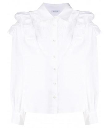 Блуза P.A.R.O.S.H. CAKTUNSI D380483 с оборками белая