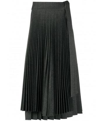 Плиссированная юбка P.A.R.O.S.H. PLANE D620384 серая