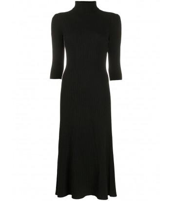 Трикотажное платье D.EXTERIOR 51064 в рубчик черное