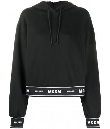 Толстовка с капюшоном MSGM 2941MDM183 черное