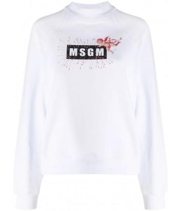 Белая толстовка MSGM 2941MDM70 с логотипом