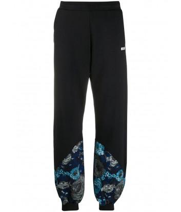 Спортивные брюки MSGM 2941MDP66 с цветочным принтом