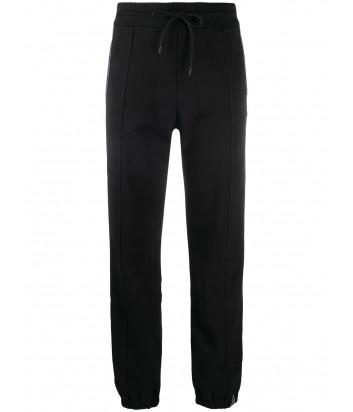 Спортивные брюки MSGM 2941MDP68 черные с логотипом