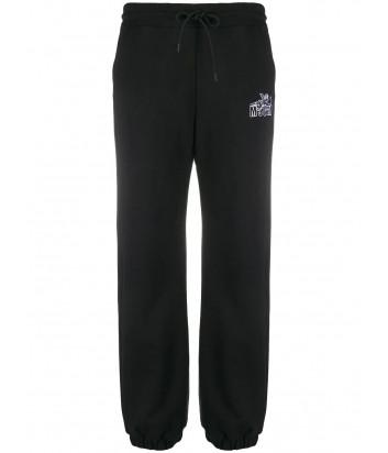 Спортивные брюки MSGM 2941MDP60 черные с логотипом