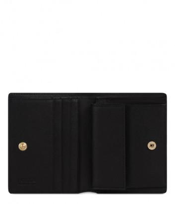 Кожаный кошелек FURLA 1927 PDF7ACO в два сложения на кнопке черный