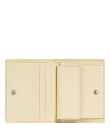Кожаный кошелек FURLA 1927 PDF7ACO в два сложения на кнопке кремовый