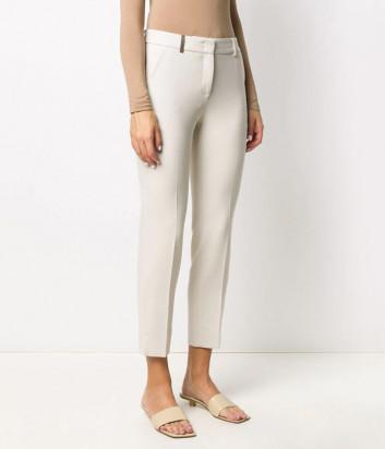 Укороченные брюки PESERICO P0471801934 молочные