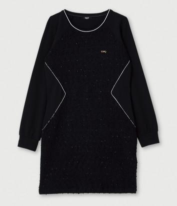 Платье LIU JO Sport TF0148J6084 с вышивкой и аппликациями черное