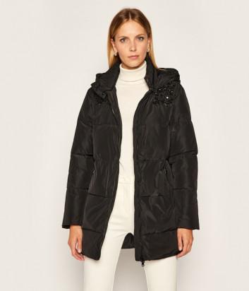 Куртка TWIN-SET 202TP2211 черная с декором