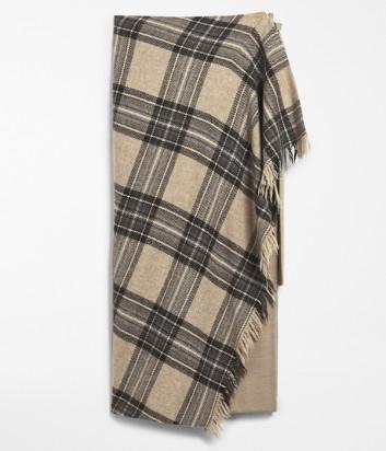 Шерстяная юбка WEEKEND Max Mara PIGNAWE51060403 бежевая