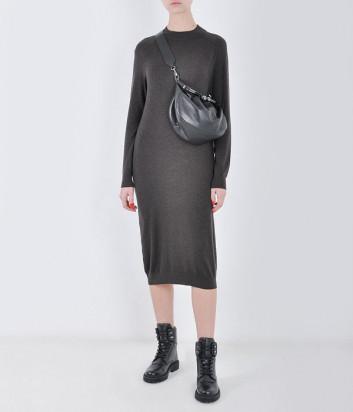 Платье WEEKEND Max Mara MARICA WE53260103 из шерсти и шелка коричневое