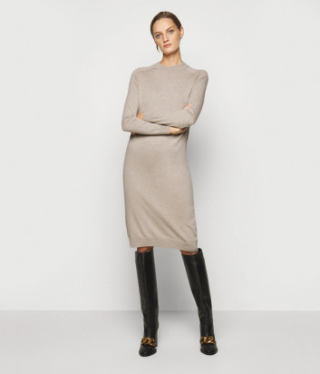 Платье WEEKEND Max Mara MARICA WE53260103 из шерсти и шелка бежевое