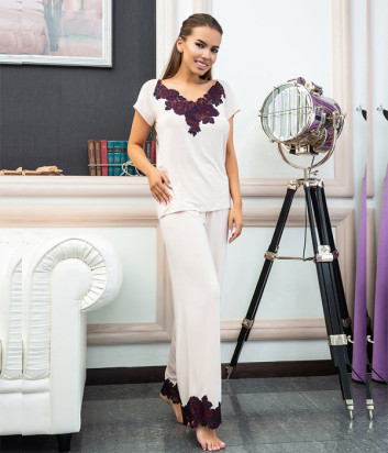 Женская пижама EFFETTO 03147 футболка и брюки