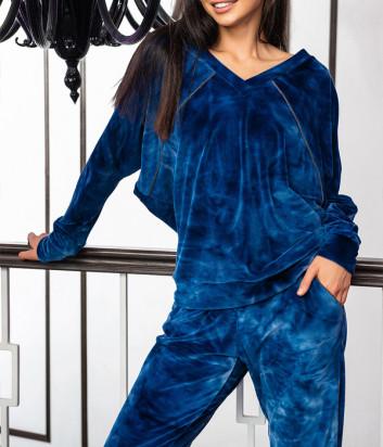 Женский комплект EFFETTO 03120 кофта и брюки синий