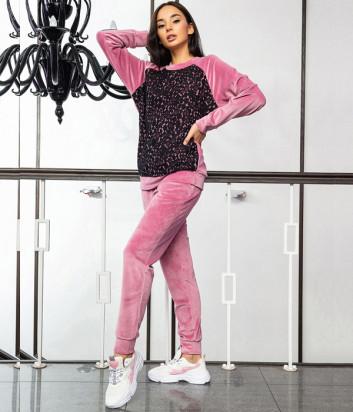 Домашний костюм EFFETTO 03116 кофта и брюки розовый