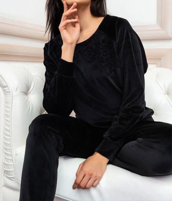 Домашний комплект EFFETTO 03131 реглан и брюки черный