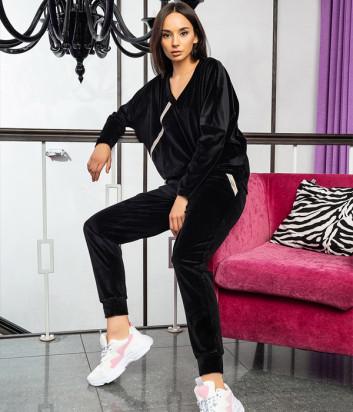 Женский костюм EFFETTO 03126 реглан и брюки черный