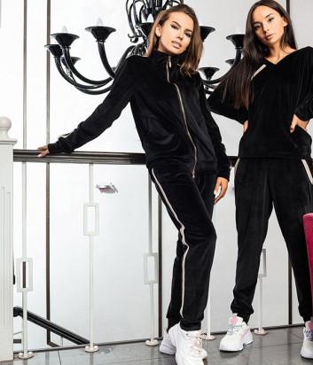Женский костюм EFFETTO 03127 реглан на молнии и брюки черный
