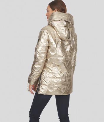 Куртка SPORTALM 948221133 золотая с тисненым принтом в виде цифр