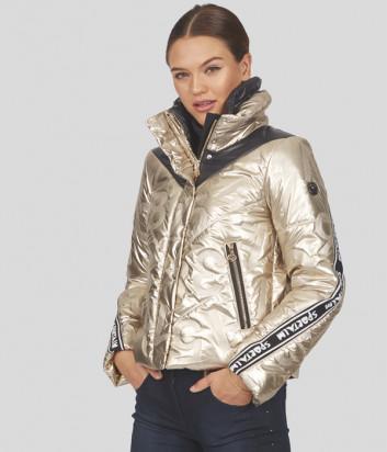 Короткая куртка SPORTALM 948001133 золотая с тисненым принтом в виде цифр