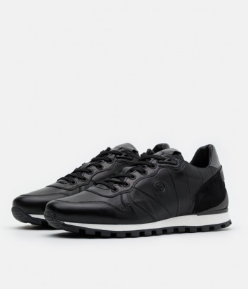 Кожаные кроссовки BOGNER 103-2821 черные