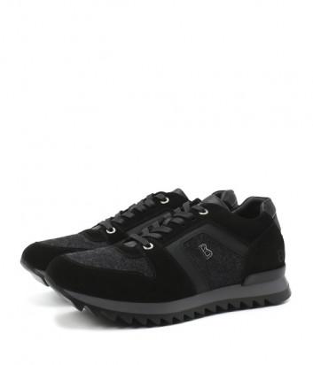 Комбинированные кроссовки BOGNER 103-B851 черно-серые