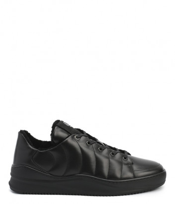 Кожаные кроссовки BOGNER 103-6123 на меху черные