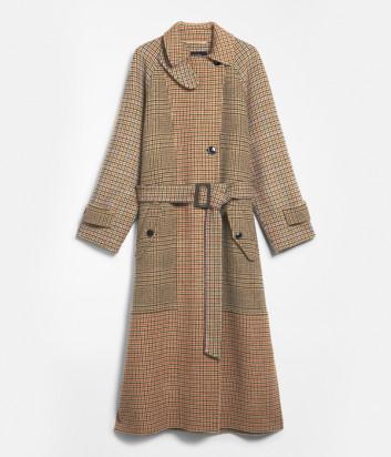 Длинное пальто WEEKEND Max Mara FOGGIA WE50160103 бежевое в клетку