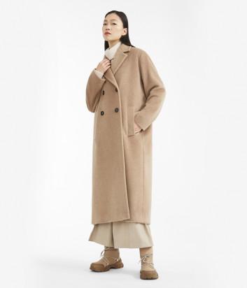 Длинное пальто WEEKEND Max Mara PARMA WE50161403 бежевое