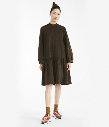 Бархатное платье WEEKEND Max Mara DUDY WE52260903 цвета хаки