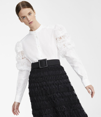Белая рубашка WEEKEND Max Mara ARIO WE51910501 с пышными рукавами