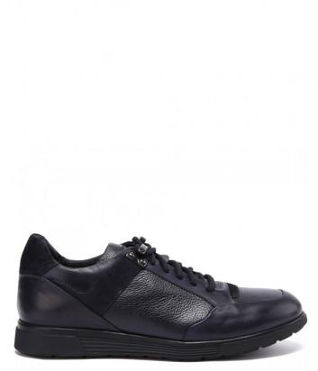 Кожаные кроссовки BALDININI 147030 синие