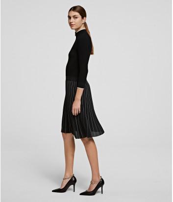 Трикотажное платье KARL LAGERFELD 206W1360 черное