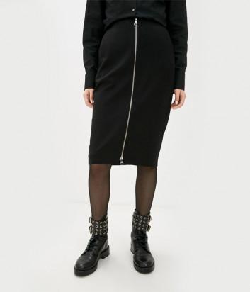 Юбка-карандаш KARL LAGERFELD 206W1203 на молнии черная