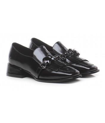 Кожаные туфли ERMANNO ERMANNO SCERVINO SF2006E102 черные с декором