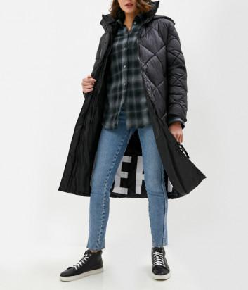 Стеганное пальто ICE PLAY J02164129000 с капюшоном черное