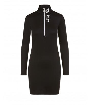 Платье ICE PLAY H141P4539000 черное с логотипом