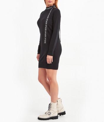 Трикотажное платье ICE PLAY AH0490139000 черное с логотипом