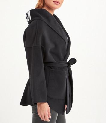 Короткое пальто ICE PLAY O0216451 с капюшоном черное