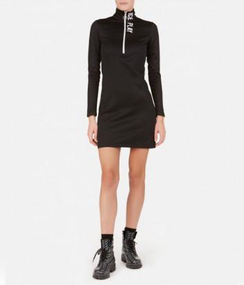 Мини-платье ICE PLAY H141P453 черное с молнией и логотипом